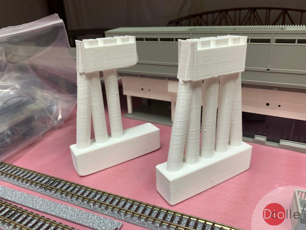 天池駅#9 3D Print鐵橋橋腳