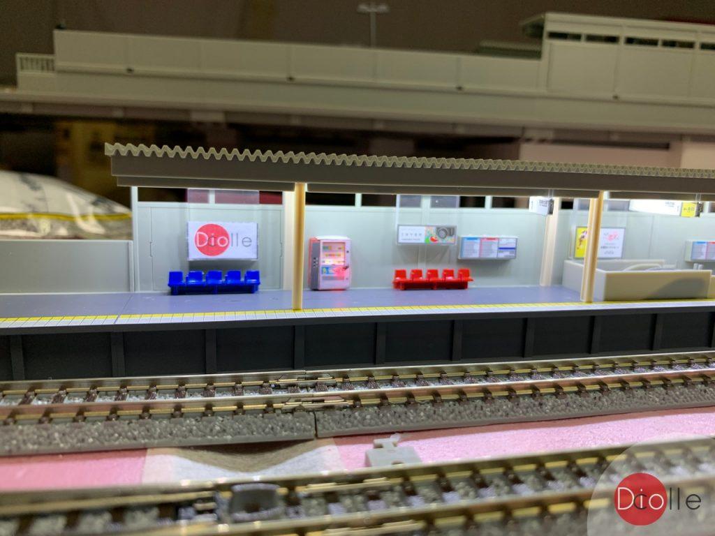 天池駅#16 Tomix月台加燈