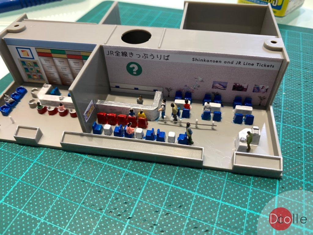 天池駅#20 Tomix高架站內裝加工
