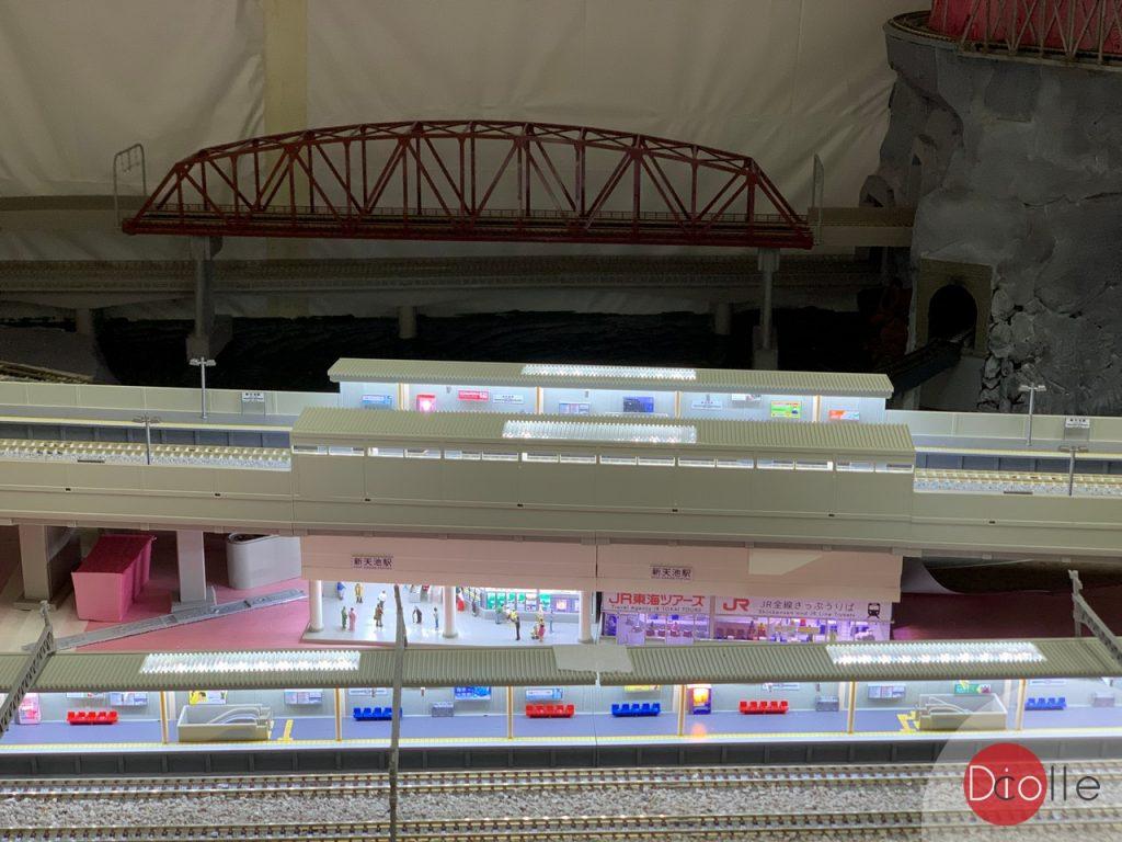 天池駅#22 Tomix高架月台加燈
