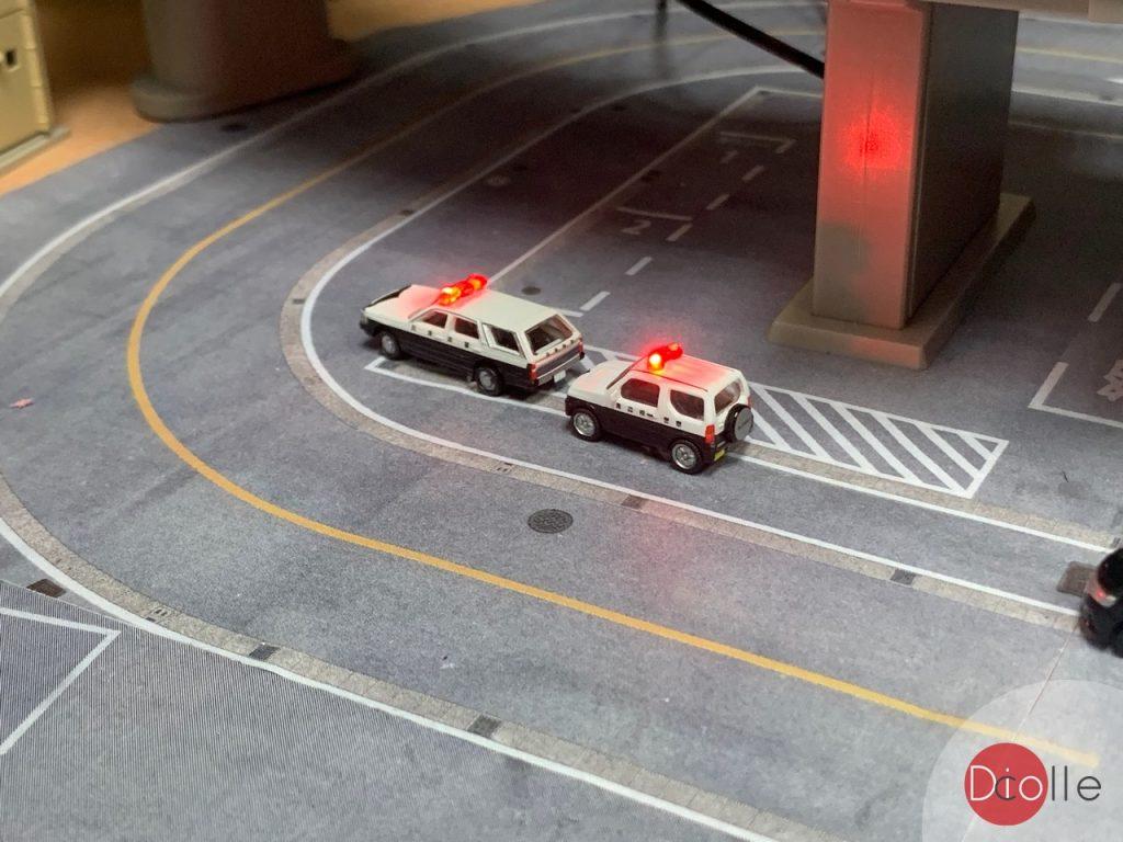 天池駅#33 Tomytec警車加閃燈